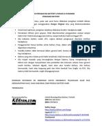 Petunjuk Perawatan Battery Lithium