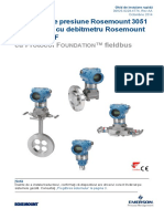 Traductor de Presiune Rosemount 3051 Si Traductor Cu Debitmetru Rosemount Seria 3051CF Cu Protocol Foundation Fieldbus