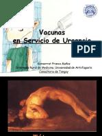 Vacunas en Servicio de Urgencia