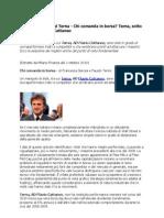 Flavio Cattaneo Ad Terna - Chi Comanda in Borsa Terna Sotto La Guida Di Flavio Cattaneo