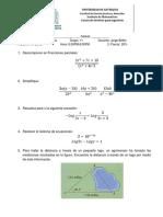 Segundo Examen Algebra y Trigonometría