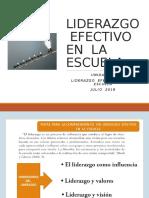 Liderazgo Efectivoen La Escuela.ppt. Unidad III (1)