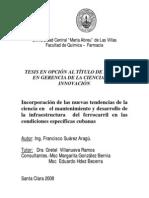 Tesis de Maestria Francisco Suarez Aragu Sobre Innovacion Tecnologica en El Ferrocarril