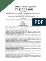 Ley 527 de 1999 - Medios Electrónicos.pdf