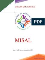 MISAL Celebraciones Eucarísticas CONGRESO EUCARÍSTICO NACIONAL 2015