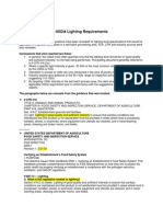 USDA Lighting Requirements