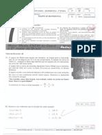 Teste Único TU 7º Ano 3ª Etapa Matemática