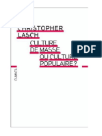 Culture de massse ou culture populaire - Christopher Lasch.pdf