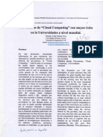 """Proveedores de """"Cloud Computing"""" con mayor éxito en la Universidades más reconocidas a nivel mundial."""
