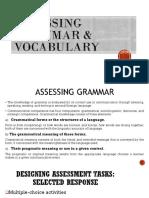 Assessing Grammar and Vocabulary