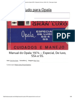 Manual Do Opala 1974 – Especial, De Luxo, SS4 e SS