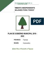 Plan de Gobierno Provincial de Tayacaja 2018-20221