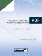 LIMA, Maria Regina. Tradicao e Inovacao na Politica Externa Brasileira.pdf