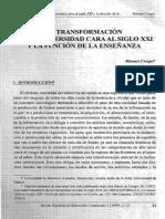 Transformación enseñanza