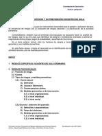 UNIDAD 3. Riesgos Específicos y Su Prevención Docente de Aula Ordinaria