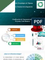 Clasificación de Nanomateriales
