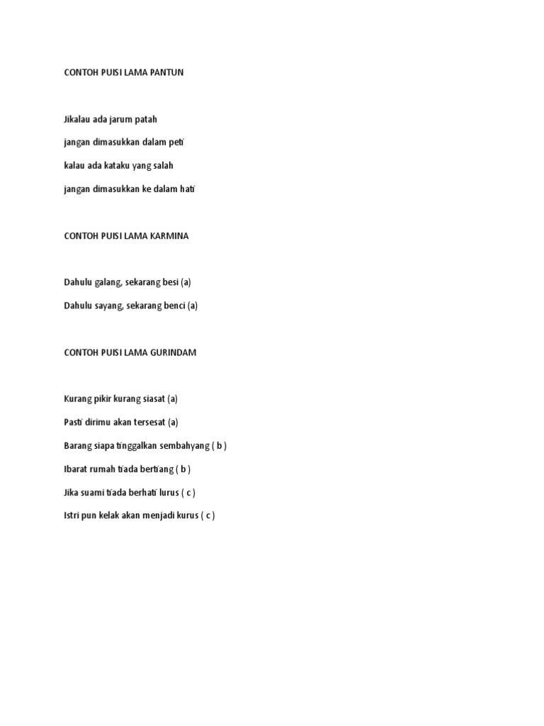 Contoh Puisi Lama Doc