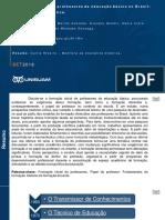 """Resumo do artigo """"Formação Inicial de Professores na Educação Básica no Brasil"""""""