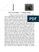 The Great Martyr - S. Bhagat Singh