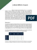 Ejercicios Método SIMPLEX y Transporte-1