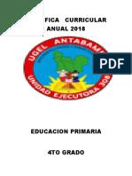 planificacion anual 4to grado