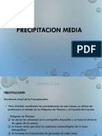 Calculo de Precipitacion Media