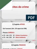 Direito Penal (Parte Geral) - Aula 07 - Sujeito e Objetos Do Crime