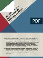 Metodologia de La Investigación de Hernández Sampieri Analisis Diapo
