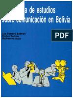 Bibliografía de estudios de comunicación en Bolivia