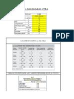 Diseño Agronomico y Parametros