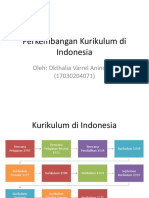 Perkembangan Kurikulum Di Indonesia,