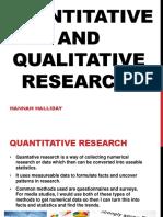 quantitative and qual. research