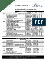 Jadual Pengajian YT 2018 [1 September 2018]