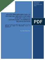 Apuntes Preliminares Para Un Estudio Del Impuesto Unitario (Unitary Tax) a Las Gananciasde Las Empresas Transnacionales
