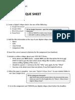 digital critique sheet