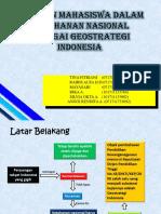 Peran Mahasiswa Dalam Ketahanan Nasional Sebagai Geostrategi Indonesia