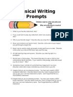 Musical Writing Prompts (2).doc
