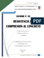 Informe de Compresion Al Concreto