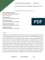 EvaluacionYClasificacionPreliminarDeLaCalidadDeAgua (Costa Rica)