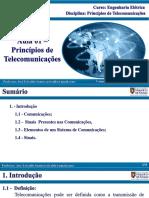 Aula 01 Principios de Telecomunica Es