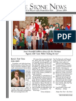 January 2009 Stone Newsletter, Stone Church of Willow Glen