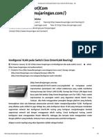 Konfigurasi VLAN Pada Switch Cisco (InterVLAN Routing) - IJC
