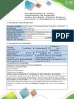 Guía de actividades y rúbrica de evaluación - Actividad 1 Realizar un documento sobre los conocimientos previos del proceso de investigación.pdf