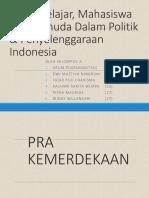 Peran Pelajar, Mahasiswa Dan Pemuda Dalam Politik