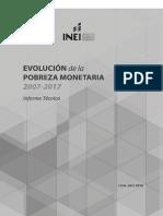 Informe Tecnico Pobreza Monetaria 2007-2017