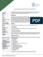 Manejo de Windows Word Excel y Powerpoint
