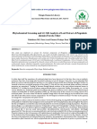 Phytochemical Screening and Gcms Analysis of Leaf Extract of Pergulariadaemia Forssk Chiov