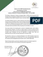 Invitation and Program CSDP Orientation Course 15-19 Oct 2018