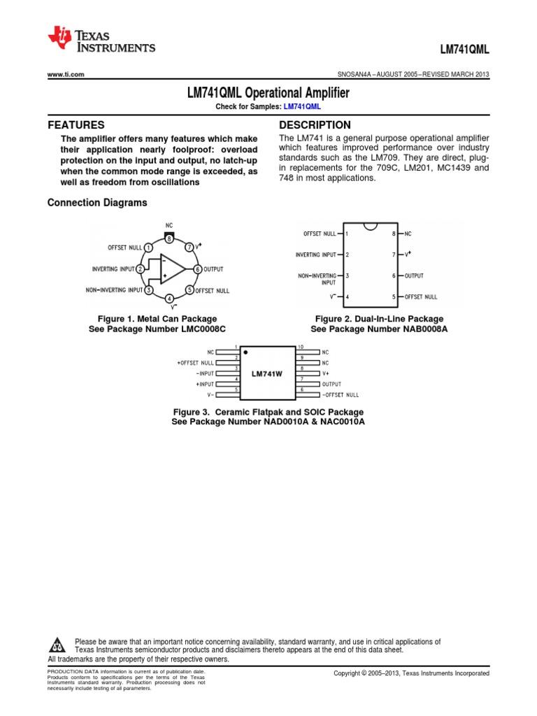 Ampli Operationnel  Ceramique                                    LM741J LM741J