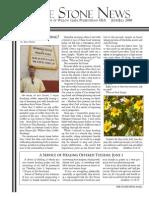 June 2010 Stone Newsletter, Stone Church of Willow Glen